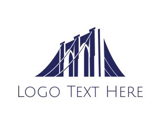 Road - Blue Bridge Construction logo design