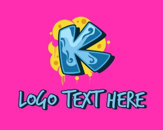 Street Art - Street Art Letter K  logo design