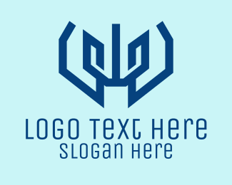 Technology - Bold Abstract Letter W logo design