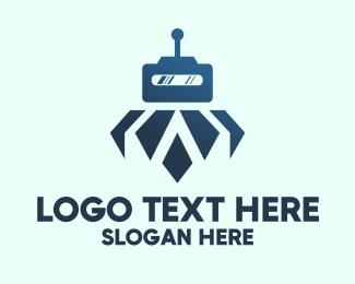 Robotics - Floating Robot logo design