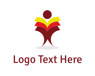 Character - Books Man logo design