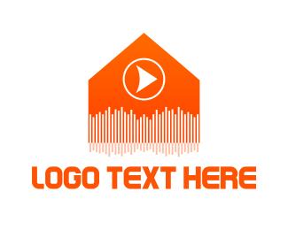 Dj - Music Production House logo design