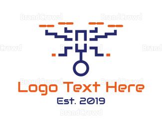 Drone Pilot - Drone Surveillance  logo design