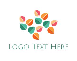 Autumn - Minimalist Leaves logo design