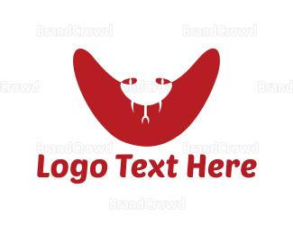 Venom - Red Cobra logo design