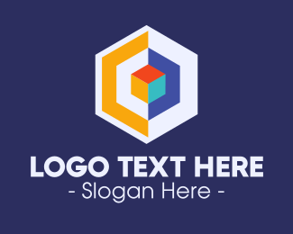 Geometric Hexagon - Modern Digital Hexagon logo design