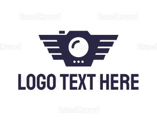 Cameraman - Geometric Bird Camera logo design
