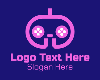 Gaming Equipment - Pink Modern Game Console logo design