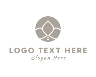 Wreath - Orchid Circle logo design