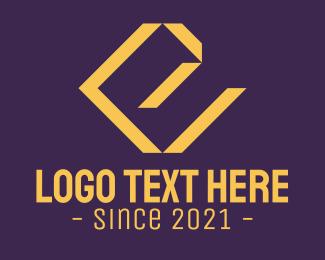 Architecture - Golden Luxury Letter V & E logo design