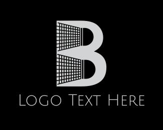 Shuttlecock - Badminton Shuttlecock Letter B logo design