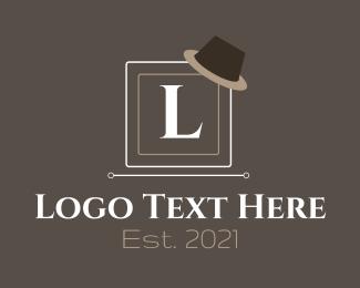 Detective - Vintage Hat Letter logo design