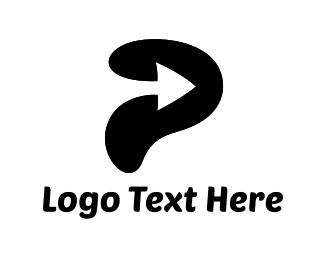 Ear - Arrow P logo design