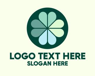 Ireland - Green Clover Leaves logo design