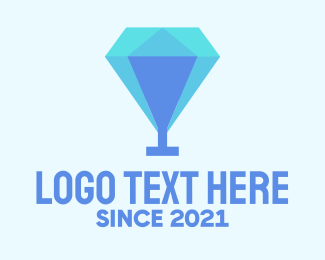 Cocktail - Diamond Cocktail Glass logo design