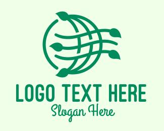 Earth - Natural Eco Planet Earth Environment logo design