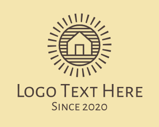 Rice Field - Countryside Rural Village Home logo design