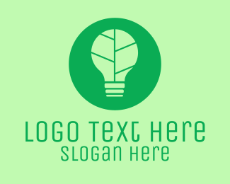 Natural Energy - Green Eco Light Bulb  logo design