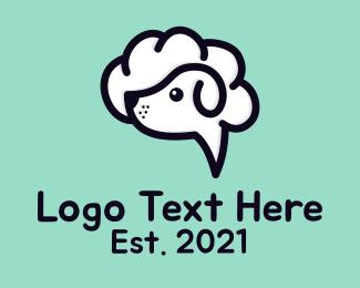 Bubble - Dog Cloud Bubble logo design
