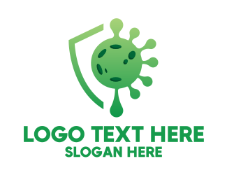 Protection - Green Virus Protection logo design