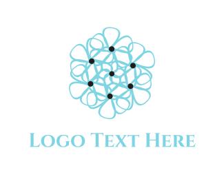 Delicate - Blue Flower logo design