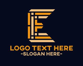 Maze - Maze Letter E logo design