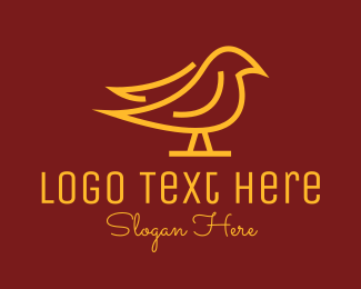 Glory - Golden Simple Bird logo design