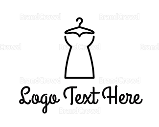 Dry Cleaner - Minimalist Dress logo design