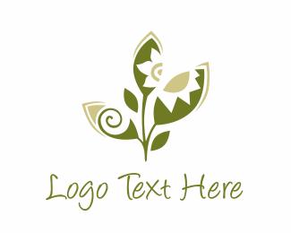 Beach - Green Crafty Leaf logo design