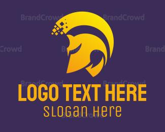 Magic - Golden Helmet logo design