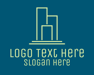 Apartment - Minimalist Apartment Complex logo design