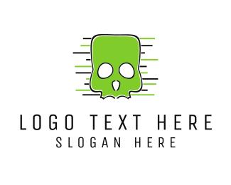 Esport - Green Skull logo design