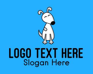 Puppy - Cute White Puppy logo design