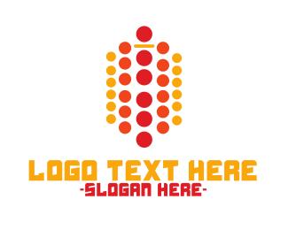 Information Technology - Modern Dots logo design