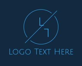 Free - Blue Hipster Circle logo design