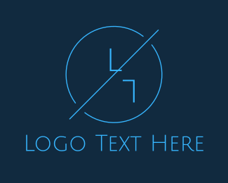 Landscape Architect - Blue Hipster Circle logo design