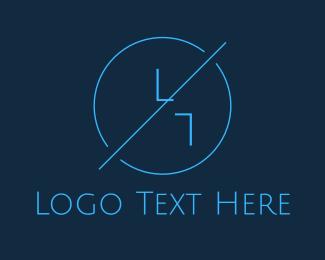 Free Blue Hipster Circle Logo