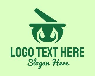 Salad Bowl - Green Herbal Pharmacy logo design