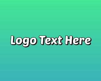 Trendy - Funky  Blue logo design