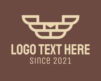 Brick - Brown Brick Wings logo design