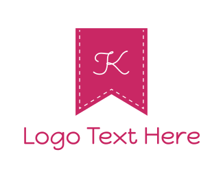 Thread - Pink K Flag logo design