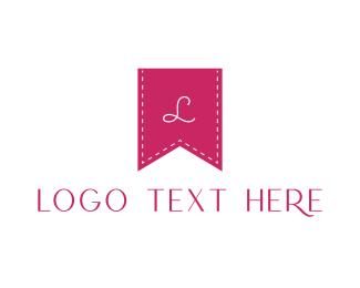 Seamstress - Pink K Flag logo design