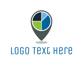 Quarter - Pie Chart Location logo design
