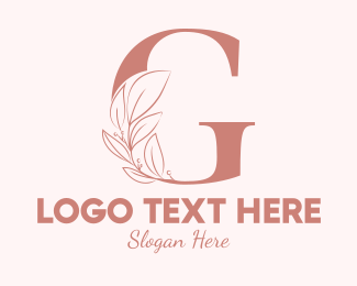 Aesthetics - Elegant Leaves Letter G logo design
