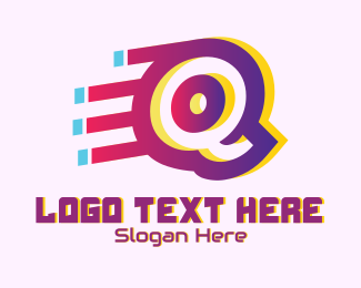 Digital Software - Speedy Letter Q Motion logo design