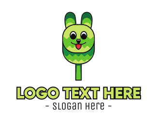 Ears - Green Rabbit Popsicle logo design
