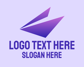 Advertising Agency - Gradient Purple Triangle logo design