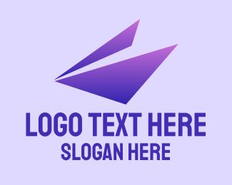 Gradient Purple Triangle Logo