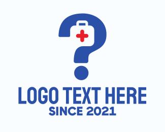 First Aid Kit - Emergency Kit Question Mark logo design