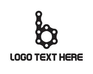 Road Bike - Bicycle Chain B logo design